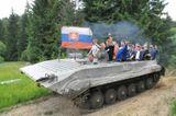 adrenalínová jazda tankom
