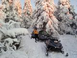 jazda na snežnom skútri Predajná