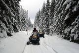 jazda na snežnom skútri Orava