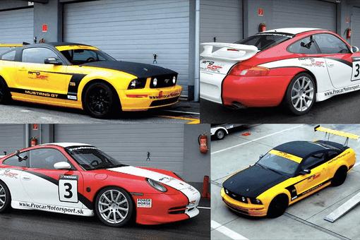 2V1 Jazda na Porsche GTR a Ford Mustang GT