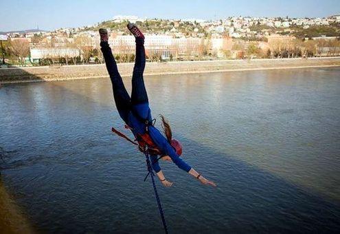 Kyvadlový zoskok z mosta Lafranconi