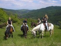 Pobyt v konskom sedle Štiavnickými vrchmi