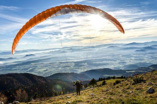 Horský tandemový paragliding