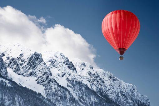 Prelet balónom ponad Vysoké Tatry