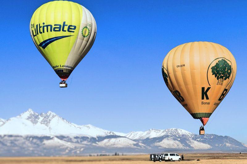 Vyhliadkový let balónom s výhľadom na Tatry
