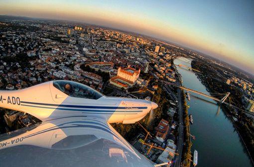 Vyhliadkový let lietadlom nad Bratislavou