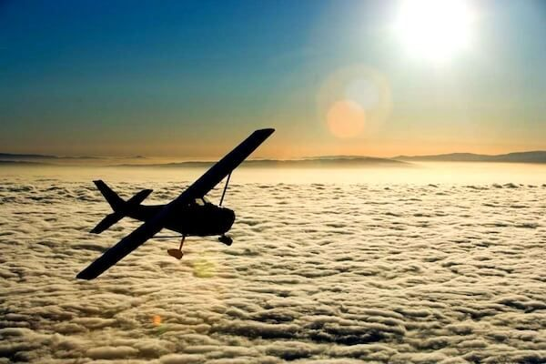 Vyhliadkový let lietadlom nad Košicami